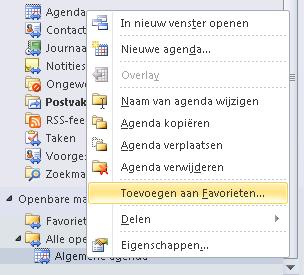 96214dbeadb 3. De algemene agenda is nu zichtbaar bij Andere agenda's in de functie  Agenda in Outlook.